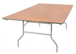 40 x 96 Plywood Folding Table, Miami  Banquet Cheap Wholesale Tables, Lowest prices wood Florida