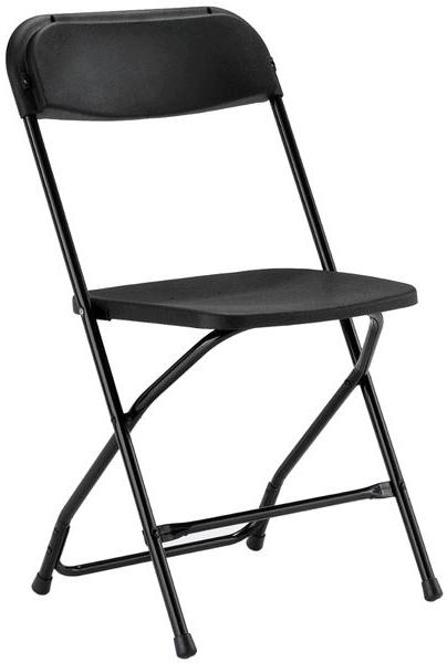 Black Plastic Folding Chair   Cheap Prices Poly Folding Chair
