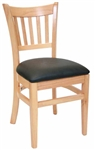 Restauant Chair Natural Verticle Back