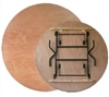 "72"" Round wood Folding Table, Plywood Folding Tables,"