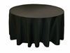 "Black 70"" Round Tablecloth"
