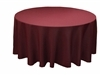 "Burgundy 70"" Round Tablecloth"
