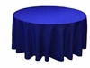 "Royal Blue 70"" Round Tablecloth"