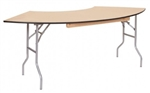 "Wood folding tables features 3/4"" thick birch plywood"