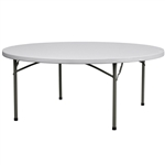 "72"" Plastic Folding Table -Discount Prices"