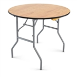 "Wood 36"" Round Wood Table"