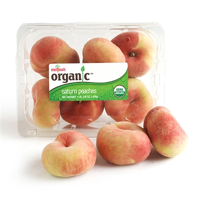 Organic Saturn Peaches