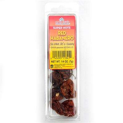 Dried Red Habanero Peppers