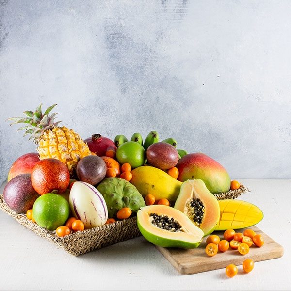 Deluxe exotic and tropical fruit basket negle Image collections