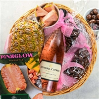 Pinkglow Pineapple Valentines Day Basket