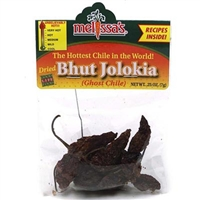 Dried Bhut Jolokia Peppers