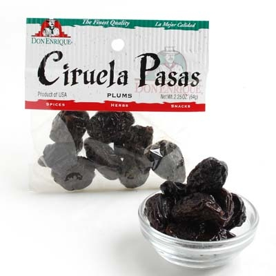 Dried Plums Ciruelas Pasas