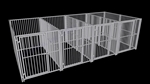 4-Run European Style Dog Kennel 5x10