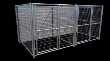 2-Run Indoor/Outdoor Kennels 6'W x 6'L x6'H