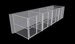 4-Run Indoor/Outdoor Kennels 6'W x 6'L x 6'H