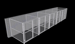 5-Run Indoor/Outdoor Kennels 6'W x 6'L x 6'H