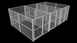 3-Run Dog Kennel 6x12