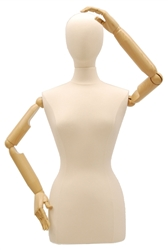 Egghead Female Dress Form with Flexible Arms and Fingers