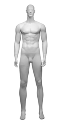 Athletic Male Mannequin in Matte White from www.zingdisplay.com