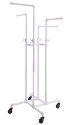 4 Way Adjustable Arms Rack Glossy White - Pipe Collection from www.zingdisplay.com