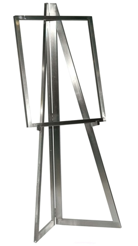 Satin Chrome Folding Easel from www.zingdipslay.com