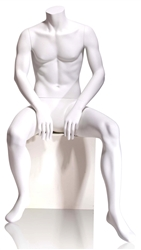 Tomas Headless Seated Male Mannequin