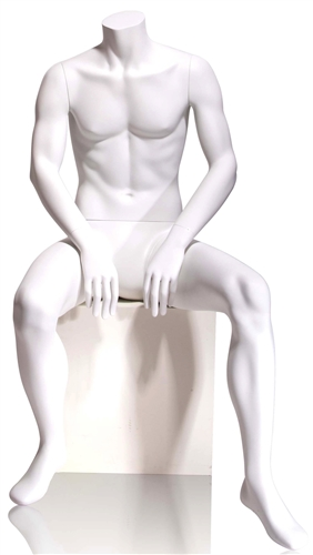 Tomas Male Mannequin Headless - Seated Pose 5