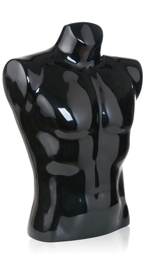 "Men's Torso w/ 5/8"" Flange in Gloss Black"