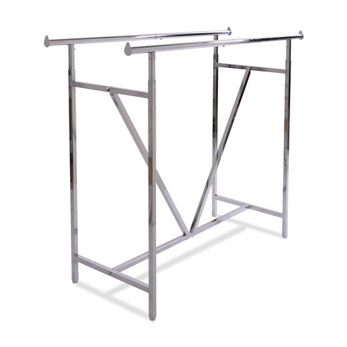 Heavy Duty Adjustable Chrome Double Bar Rack with V-Brace