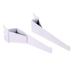 Set of 2 White Shelf Brackets (2 Pairs) - Compatible with White Pipe Collection