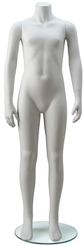Headless Unisex Child Mannequin in White from Zing Display
