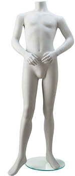 Headless Child Mannequin in White from www.zingdisplay.com