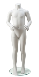 Headless Child Unisex Mannequin in White from www.zingdisplay.com