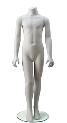 Unisex Headless Child Mannequin in White from www.zingdisplay.com