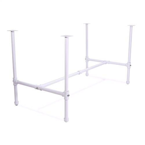 Large Nesting Table Frame - Glossy White Pipe Collection from Zing Display