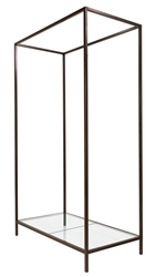 Bronze Freestanding Merchandising Unit with Glass Bottom