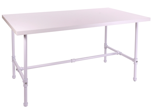 Large Capacity Table in Glossy White from Zing Display