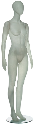 Contemporary White Translucent Female Egghead Mannequin
