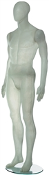 Contemporary White Translucent Male Egghead Mannequin