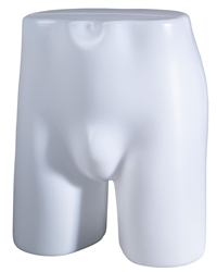 Unbreakable plastic male butt form from www.zingdisplay.com