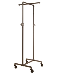 2-Way Cross Bar Clothing Display Rack from www.zingdisplay.com
