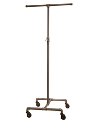 Garment Rack with 2-Way Adjustable Cross Bar from www.zingdisplay.com