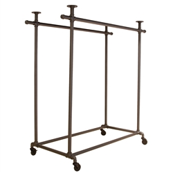 Garment Display with Double Bar from www.zingdisplay.com