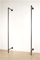 Garment Display - 2 slotted posts and mounting hardware