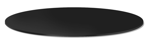 Black Melamine Round Shelf