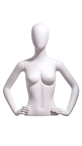 Egghead White Female Upper Torso - Display Form