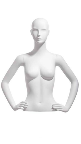 Abstract White Female Upper Torso - Display Form