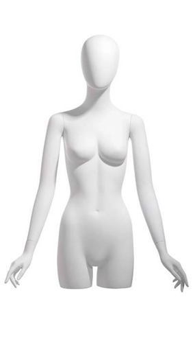 Egghead White Female 3/4 Torso - Display Form