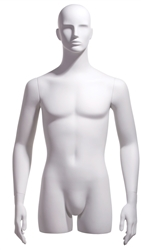Realistic White Male 3/4 Display Form - Hands at Sides from www.zingdisplay.com