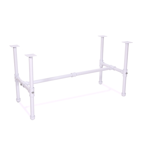 Small Nesting Table Frame - Glossy White Pipe Collection